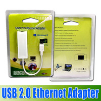 Wholesale USB to High Speed Ethernet Network LAN Adapter Card Adapter for windows7 Laptop LAN adapter