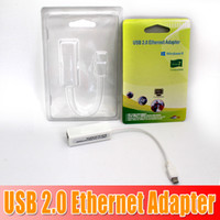 Wholesale DHL free Best quality HOT in May USB to High Speed Ethernet Network LAN Adapter Card Adapter for windows7 Laptop LAN adapter waiting