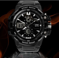 Wholesale new Promotion price top2014 new brand SKMEI student electronic watch dual display multifunctional waterproof outside sport mens watch