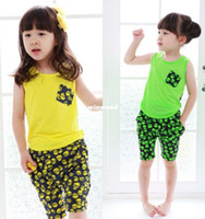 Unisex Spring / Autumn Sleeveless Free Shipping 2014 kids summer clothing set children's girls boys Skull Heads vest+Middle pants 2pcs Baby suit sets Very Cool !!