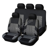 Wholesale New Black Gray Polyester piece Front Rear Car Seat Covers Set Universal