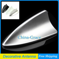 Wholesale 1PCS Car Shark Fin Roof For BMW Style Car Decorative Antenna ABS Plastic Universal Decoration Aerials Silver