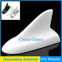 Wholesale Car Roof Shark Fin Decorative Antenna Universal Car Antenna Decoration Aerials White
