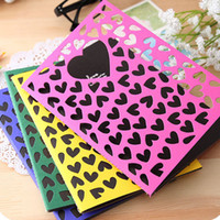 Wholesale Love Heart Cover Diary Notebook Color Kraft Notepad Memo Notebook Fashion Stationery SH586