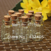 Wholesale Cute Mini Clear Cork Stopper Glass Bottles Vials Jars Containers Small Wishing Bottle Size x13mm