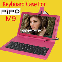7'' For Apple For Ipad 2/3 Wholesale-New keyboard case for Pipo m9 original leather case for 10.1 inch Pipo M9 3G tablet pc