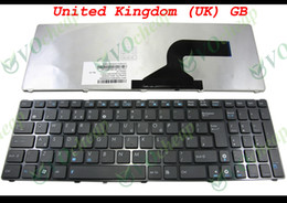 Wholesale New Laptop keyboard FOR Asus G60 K52 U50 UX50 X61 G60J G60V G60JX G60VX Black with Frame UK GB Version MP Q36GB