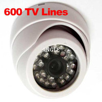 "Yes Infrared Video Camera HD 1 3"" 600TVL Sony CCD IR Color CCTV Indoor Dome Security Camera 24 LEDs Day and Night"
