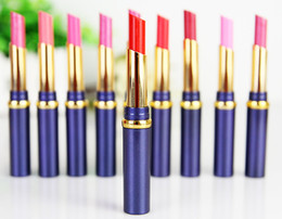 Wholesale Big brand lipstick lip set in colors romantic fashion colour velvet lustre good quality makeup with display box