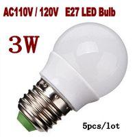 Wholesale w globe lamp LED E27 V V LED Light Lamp bulb Cold white warm white