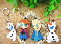 Promotion best man present - HOT Sale Best Gift FROZEN Keychain Olaf Keychain PVC Two different styles Trendy toy for children nice present With tracking number