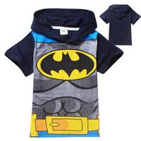 Cheap 2014 new 2-8yrs boys summer Short T-shirt kids Batman T-shirt Children Kids Clothing Tees Cool Batman Baby Boys T Shirts 8050