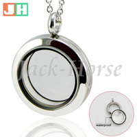 Wholesale Water Proof High quality mm L stainless steel twist screw floating locket with toughened glass screw locket