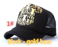 Wholesale Violent bear truck cap Korean Mesh hat Snapbacks caps hat circumference cm color