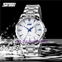 Wholesale New SKMei genuine men noctilucent week calendar watch steel watch waterproof watch with exquisite Commerce