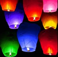 Sky lanternes Souhaitant <b>Lantern</b> montgolfière Kongming chinois lanterne Souhaitant lampe