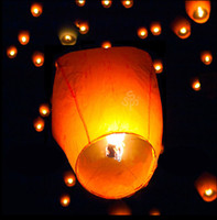 Wholesale 50 pc Chinese Kongming Wishing Sky Flying Lanterns Light Lamp Wedding Party