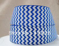 Wholesale WM ribbon OEM inch royal chevron grosgrain ribbon yds roll colors for choices