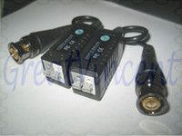 Wholesale new Arrival Freeshipping CCTV Video Balun Connector BNC UTP CAT5 Video Balun Twistered Pair Transceiver Cable with packing