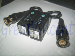 Wholesale-2014 new Arrival Freeshipping CCTV Video Balun Connector BNC UTP CAT5 Video Balun Twistered Pair Transceiver Cable with packing