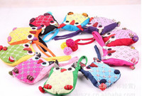 Wholesale National Style Adorable Owl Purse Bag Children Girls Boys Backpacks Colorful Ethnic Kids Animal Modern Patched Lacing Packbags