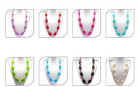 Wholesale MIX COLOR New Arrival Teething Necklaces Baby Safe Silicone Jewels BPA Free Bubble Gum Beads