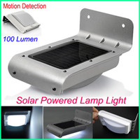 Wholesale PIR Solar Powered Outdoor Security Light Motion Detection Solar Panel LED Energy saving lamp Lumen Garden LED Lamp Motion Sensor lights