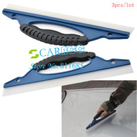 Wholesale 3pcs Soft Silicone Car Window Clean Cleaner Wiper Squeegee Drying Blade Shower Kit