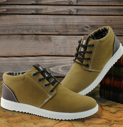 Wholesale Scrub shoes high shoes men shoes Korean men s casual shoes men s fashion