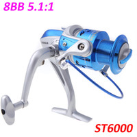 Saltwater   8BB Pesca Ball Bearings ST6000 Left Right Interchangeable Collapsible Handle Fishing Spinning Reel 5.1:1 H10660