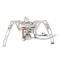 aluminum bbq grills - Portable Outdoor Camping Steel Split Butane Gas Burner Cooking Powerful Picnic BBQ Stove W BRS H10651