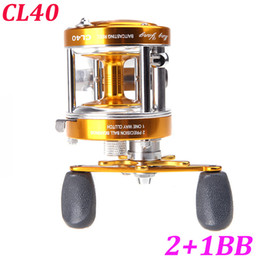 Wholesale Full Metal BB Ball Bearings Right Hand Drum Wheel Boat Sea Fishing Reel Horizontal CL40 Golden H10598
