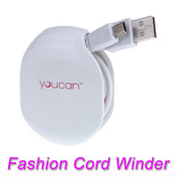 automatic cable manager - Fashion Magic Automatic Cable Winder for Mobilephone Earphones Wire USB Data Cables Chargers Cords Manager V657