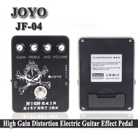 Wholesale Joyo JF High Gain Distortion Electric Guitar Guitarra Parts Accessories Effect Pedal True Bypass for Musical Instrument I271