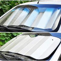 Wholesale Double thick Aluminium Foil Sun Shade Sunblock Car Window Windshield Visor Cover