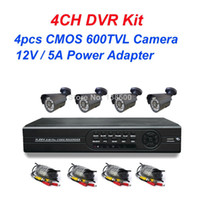 Wholesale Standalone ch DVR Outdoor CCTV Kit with IR Waterproof TVL CMOS Cameras