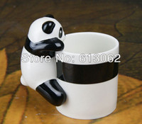 Wholesale New arrival Lovely ceramic D Panda coffee mug Creative fashionable Japanese cartoon D cup Adorable gift drop shipping