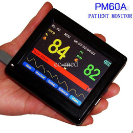 Wholesale CE FDA quot Color TFT PM60A New Handheld Portable Patient Monitor SPO2 AND Pulse Oximeter Monitor with software