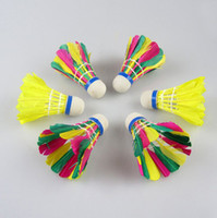 Wholesale Colorful Badminton Shuttlecocks Suitable for children entertainment practice Outdoor Racquet Sport Supply Bulk goods
