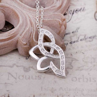 Wholesale Silver Necklaces Pendants Silver Fashion Jewelry Lotus Flower Necklace SMTN389