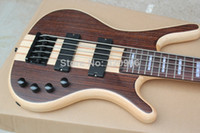 Wholesale Top quality new one piece set neck Warwick LTD Corvette strings bass Dark brown electric bass guitar