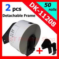Wholesale Brother Compatible Labels dk dk dk dk11208 dk1208 with plastic Permanent Cartridge holder Frame x90