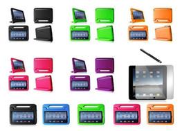 Proof Case lumière mousse Poids de choc pour Ipad2 3 Case Poignée / / 4 Kids Safe souple en mousse EVA avec support pour Ipad2 / 3/4 à partir de enfants ipad poignées de cas fabricateur