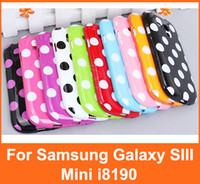 For Samsung TPU Wholesale Fashion Designer Dots Smooth TPU Case Cover for Samsung Galaxy S3 SIII Mini i8190 DHL Free shipping 100pcs Lot