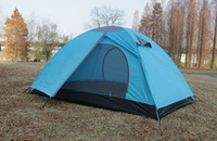 Wholesale Outdoor Double Skin Camping Hiking Dome Tent Person Season Blue orange Light green