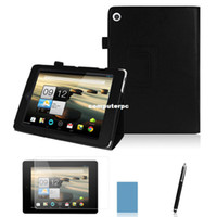 acer lcd cover - Black PU Leather Stand Case Tablet Cover For Acer Iconia Tab A1 LCD Screen Protector Film Stylus Gift