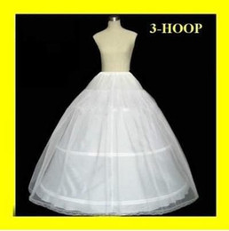 Wholesale 2014 Three Hoops Petticoats for Ball Gowns Adjustable Sizes Crinoline Bridal Accessories Underskirt for Wedding Prom Quinceanera Dresses