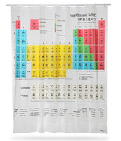 Wholesale 1405L new big bang Chemical element periodic table of cm polyester personality waterproof bathroom shower curtain