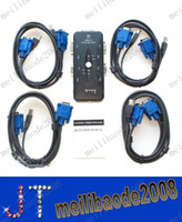 Wholesale Port USB KVM Switch with Sets PC1 PC2 PC3 PC4 of Cables for PC AC93 MYY1213