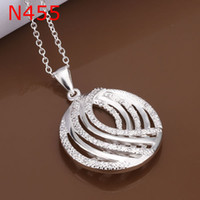 Wholesale Silver fashion jewelry Necklace pendants Chains silver necklace fashion necklace N455